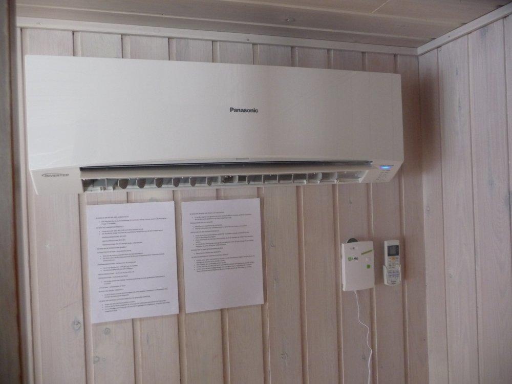 Wohnraum mit Wärmepumpe
